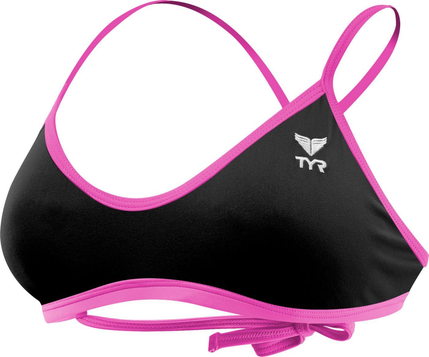 TYR Women's Crosscut Fit Tie Back Swimsuit Top