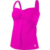 TYR Women's Solid Twisted Bra Tankini Swimsuit Top