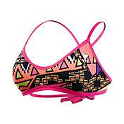 TYR Women's Whaam Cross Cut Tie Back Swimsuit Top
