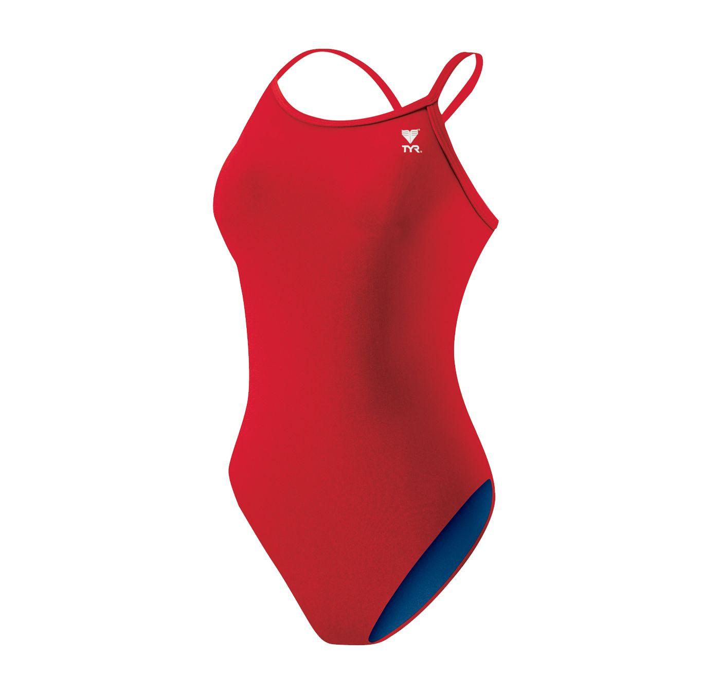 TYR Women's Solid Lycra Diamondback Tank Swimsuit