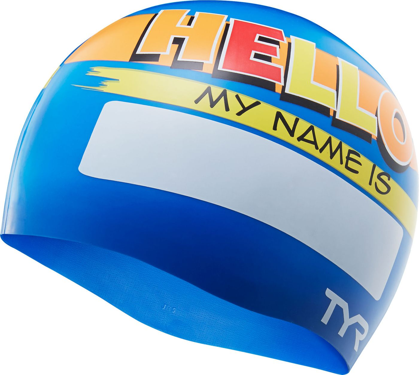 TYR Jr. Hello My Name Is Swim Cap
