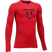 Under Armour Boys' Diamond Long Sleeve Baseball Shirt