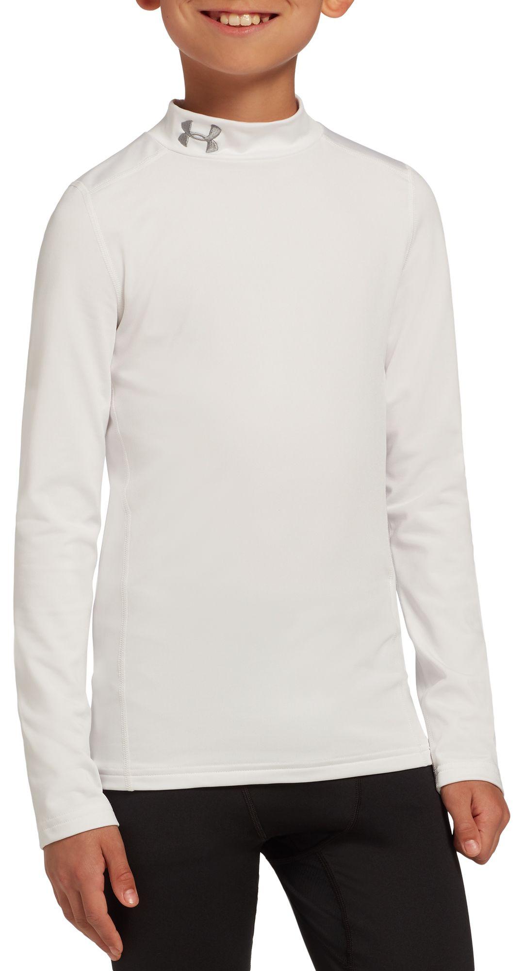 5b56224224 Under Armour Boys' ColdGear Armour Mock Neck Long Sleeve Shirt