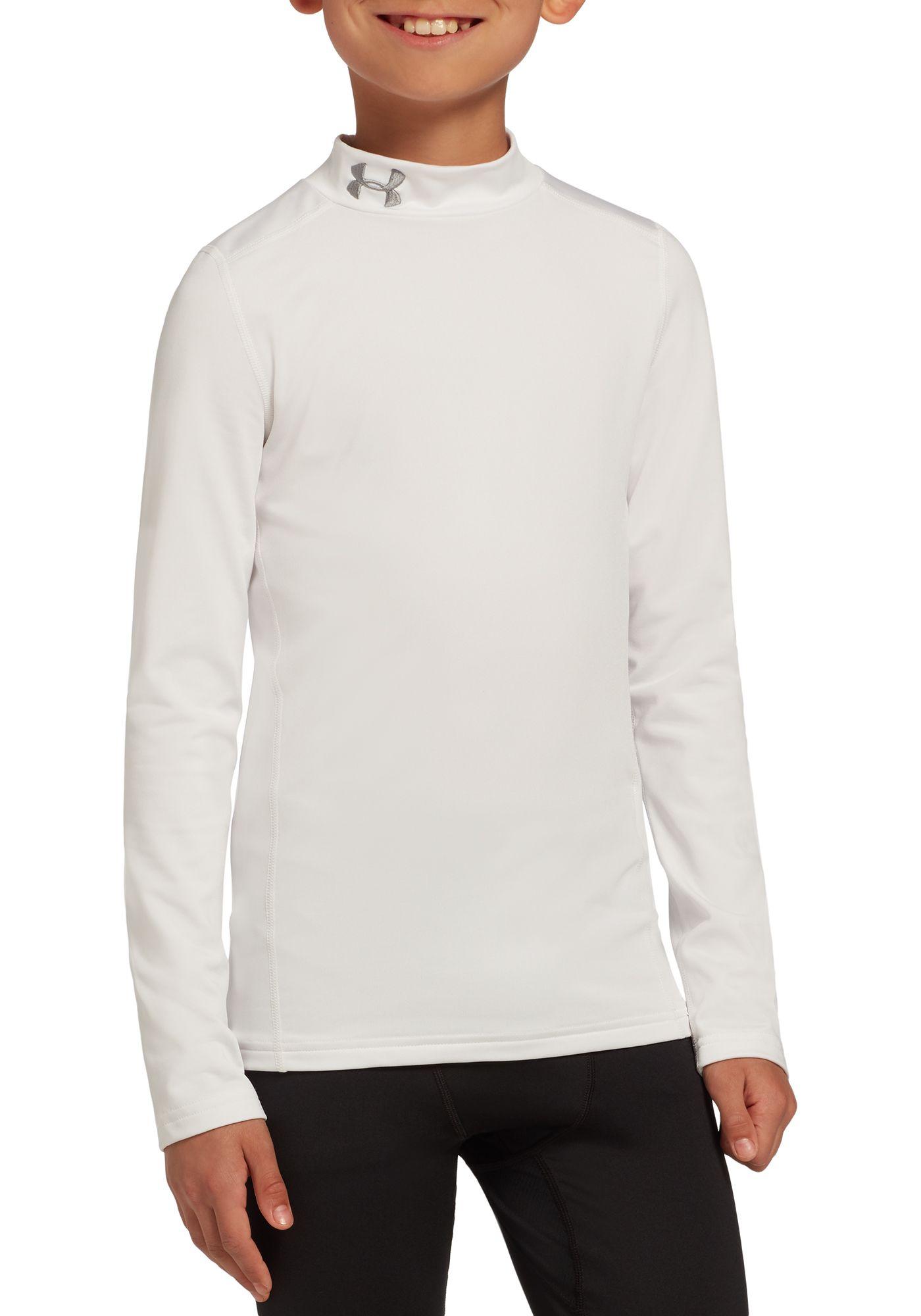 Under Armour Boys' ColdGear Armour Mock Neck Long Sleeve Shirt