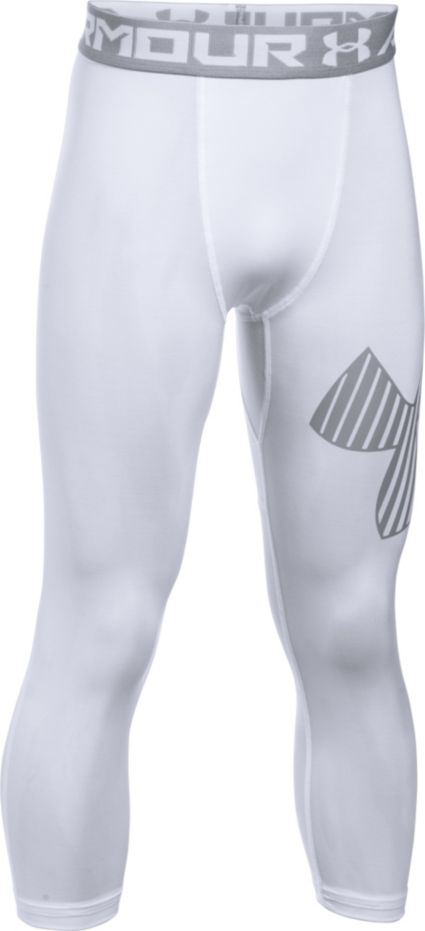 43bfad74c41 Under Armour Boys  Three Quarter Length Logo Leggings. noImageFound