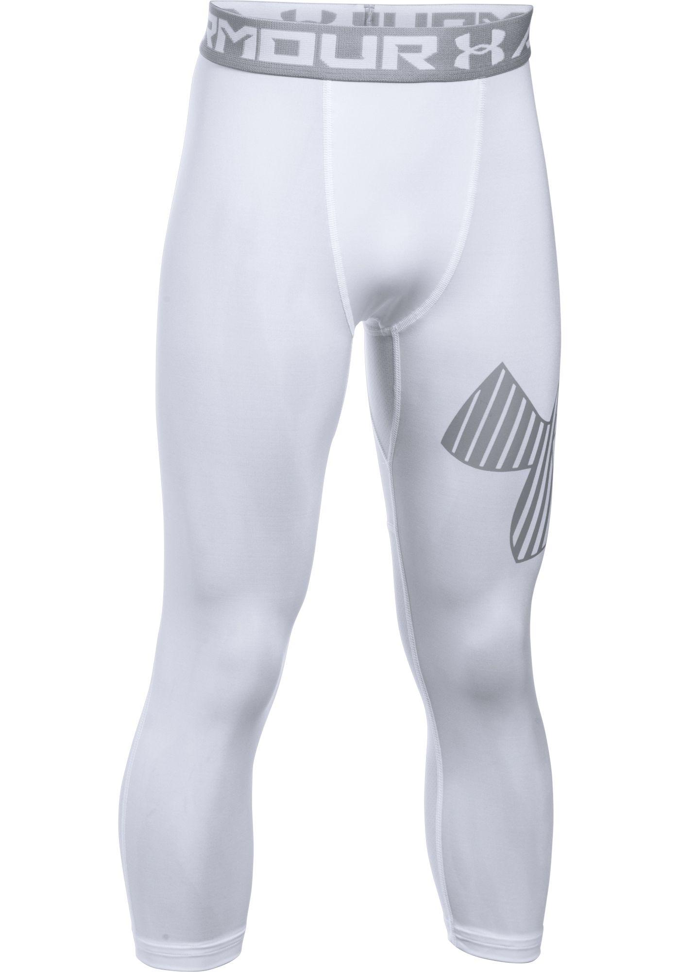 Under Armour Boys' Three Quarter Length Logo Leggings