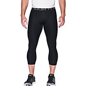 Under Armour Men's HeatGear Armour 2.0 Three Quarter Length Leggings (Regular and Big & Tall) in Black/Graphite