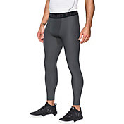 Under Armour Men's HeatGear Armour 2.0 Three Quarter Length Leggings (Regular and Big & Tall) in Carbon Heather/Black