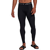 Under Armour Men's HeatGear Armour 2.0 Leggings (Regular and Big & Tall) in Black/Graphite