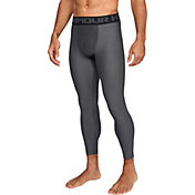 Under Armour Men's HeatGear Armour 2.0 Leggings (Regular and Big & Tall) in Carbon Heather/Black