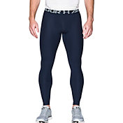 Under Armour Men's HeatGear Armour 2.0 Leggings (Regular and Big & Tall) in Midnight Navy/Steel