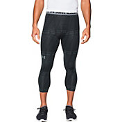 Under Armour Men's HeatGear Armour Printed Three Quarter Length Leggings