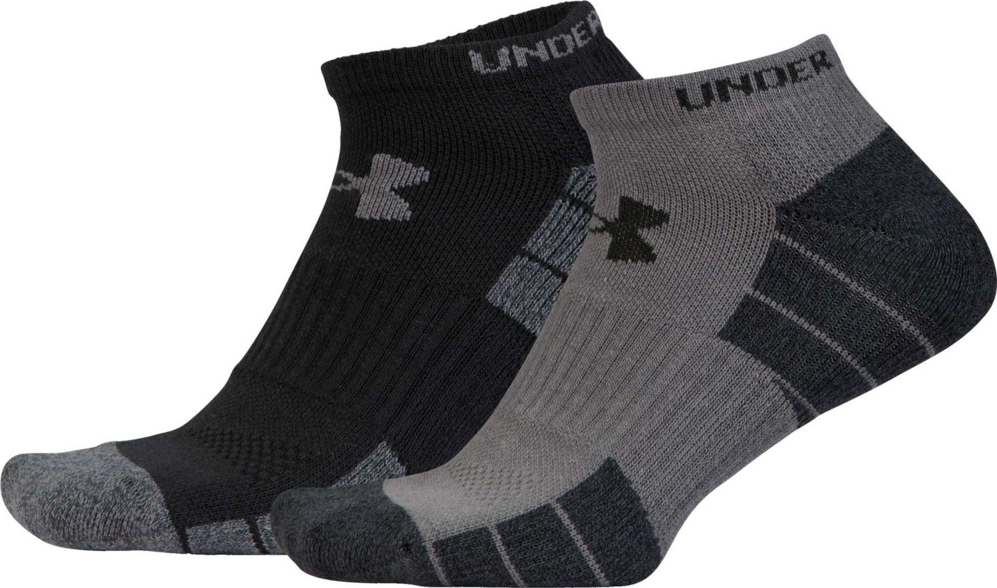 Under Armour Men's Elevated Performance No Show Golf Socks - 2 Pack