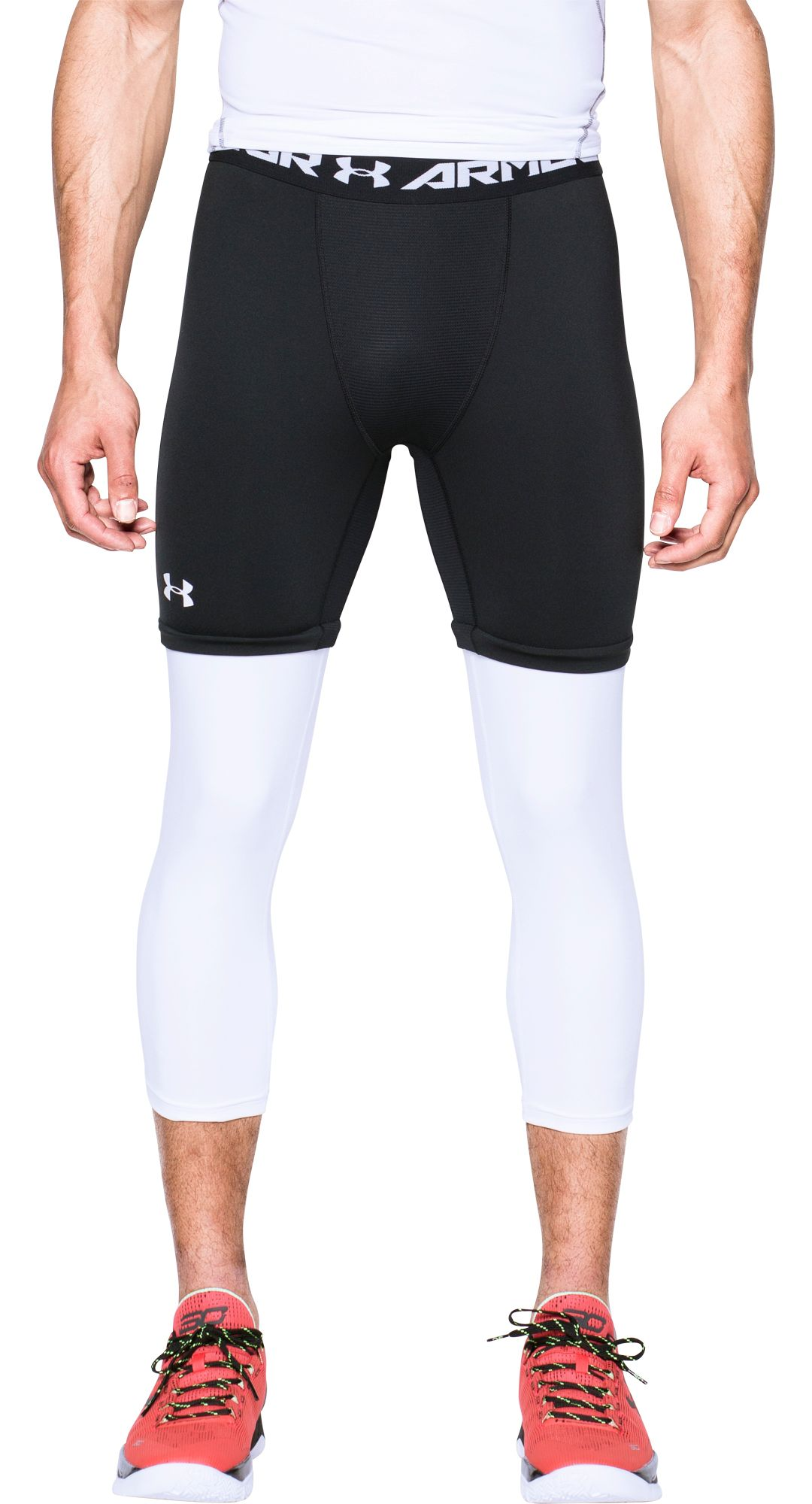 505f0976e8600 Under Armour Men's SC30 Three Quarter Length Basketball Leggings ...