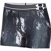 Under Armour Women's HeatGear Armour Printed 3'' Compression Shorts