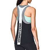 Under Armour Women's Mesh Wordmark Graphic Tank Top