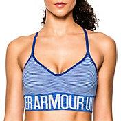 Under Armour Women's Armour Seamless Stripe Sports Bra w/Cups