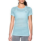 Under Armour Women's Threadborne Train Jacquard Print Crewneck T-Shirt