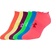 Under Armour Women's No Show Liner Socks 6 Pack