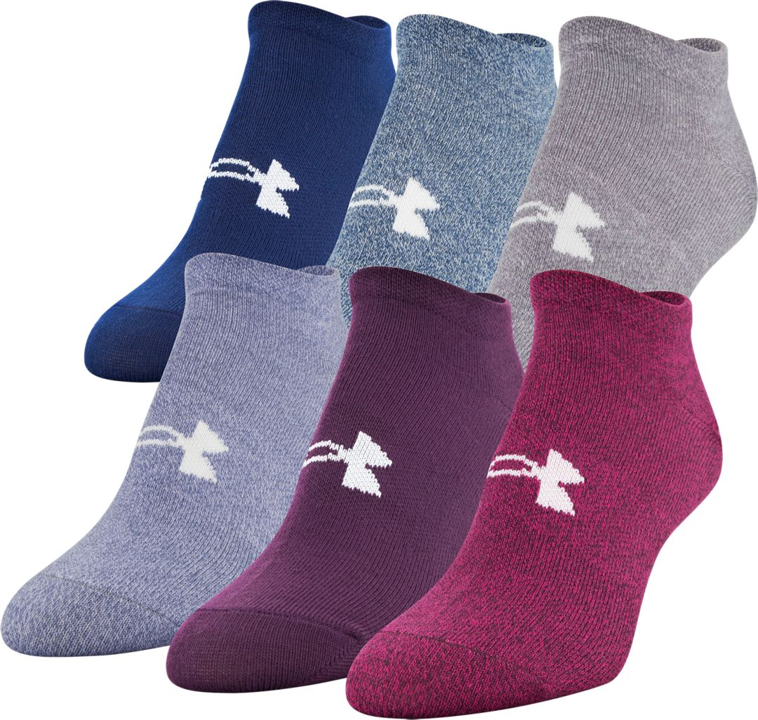 1c25f4b7462 Under Armour Women's No Show Liner Socks 6 Pack