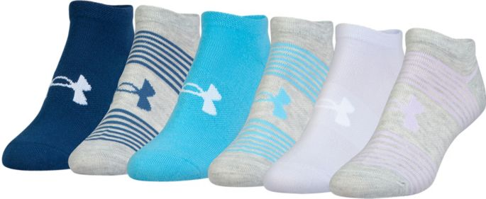 05b4595f Under Armour Women's Essential No Show Liner Socks 6 Pack