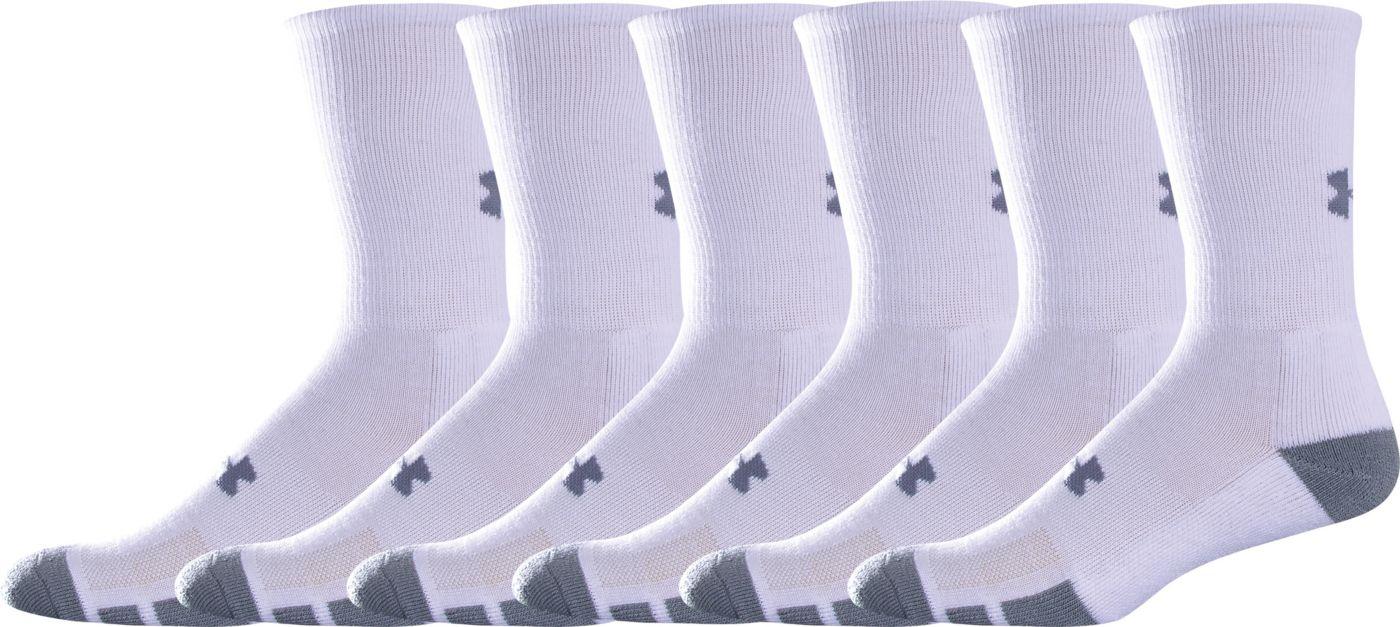 Under Armour Kids' Resistor Crew Socks 6 Pack