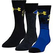 Under Armour Kids' Phenom Curry Basketball Crew Socks