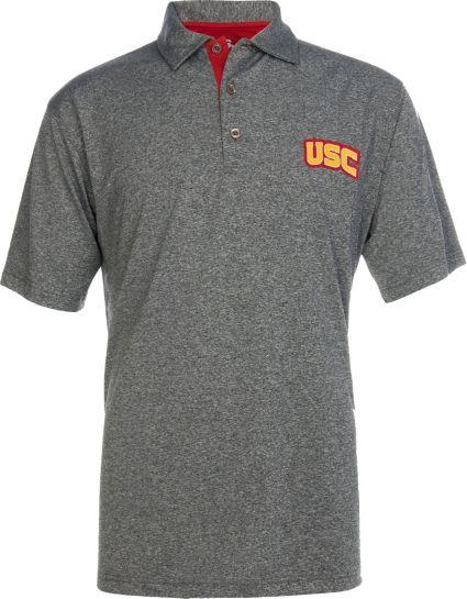 USC Authentic Apparel Men's USC Trojans Grey Pike Polo