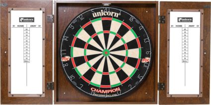 Unicorn Dynasty Bristle Dartboard Cabinet Set Dicks Sporting Goods