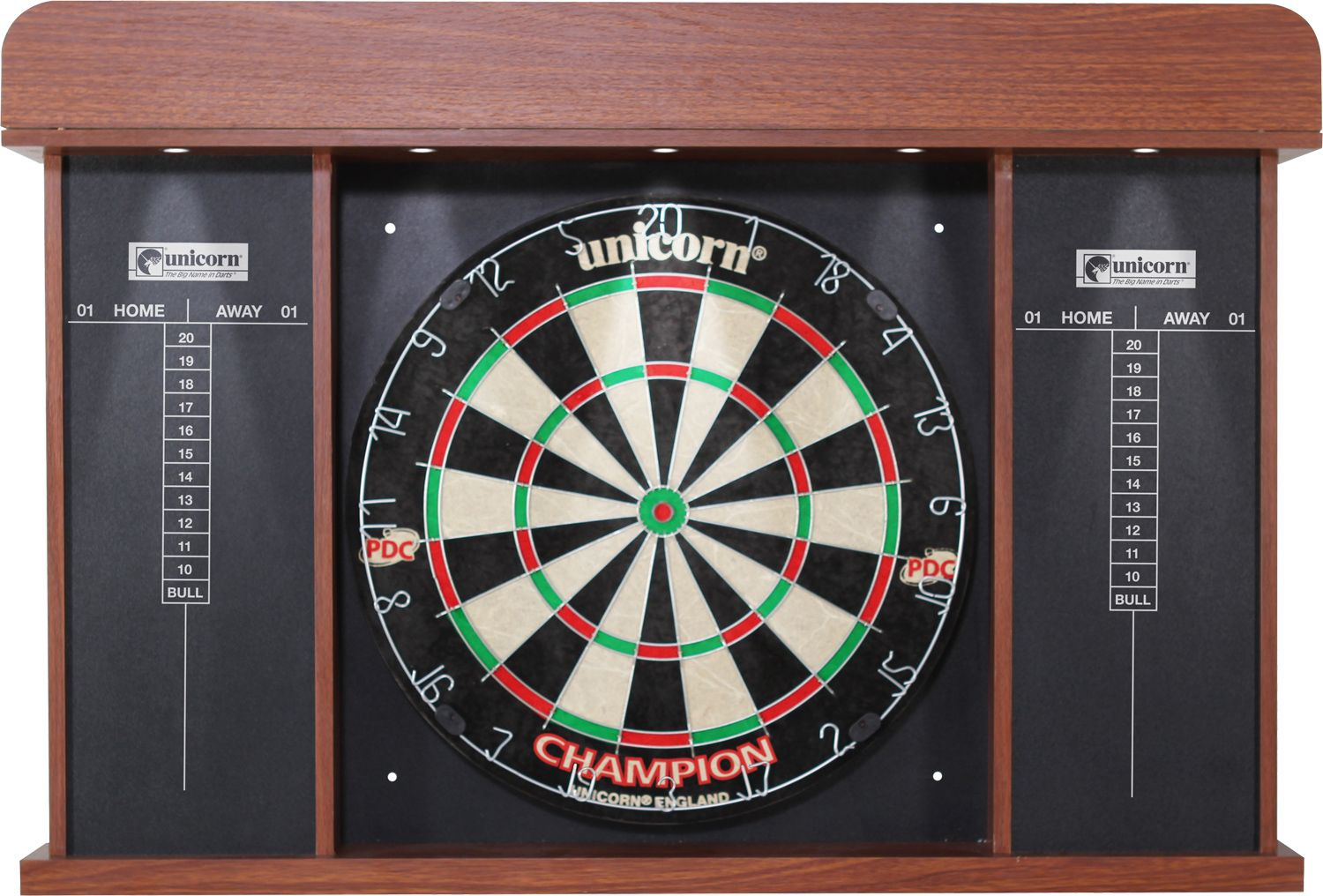 Bon Unicorn Stadium Bristle Dartboard Cabinet Set