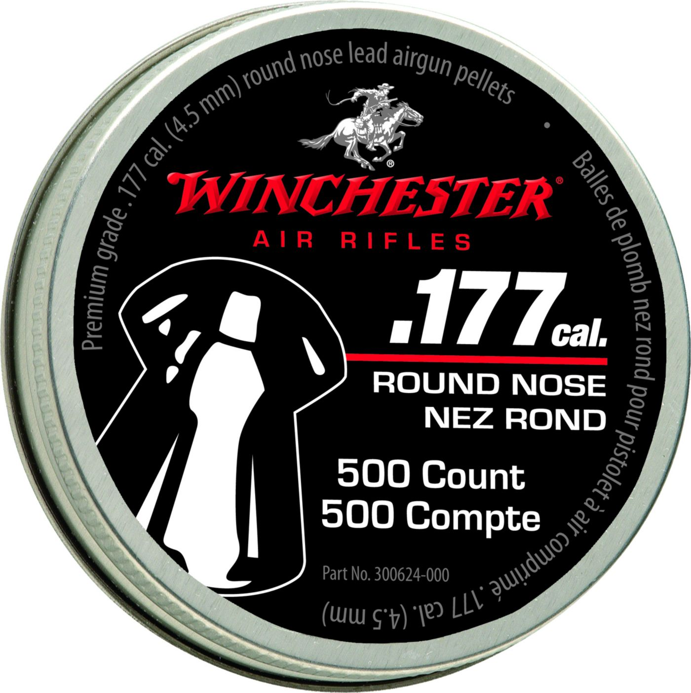 Winchester .177 Caliber Round Nose Pellets – 500 Count