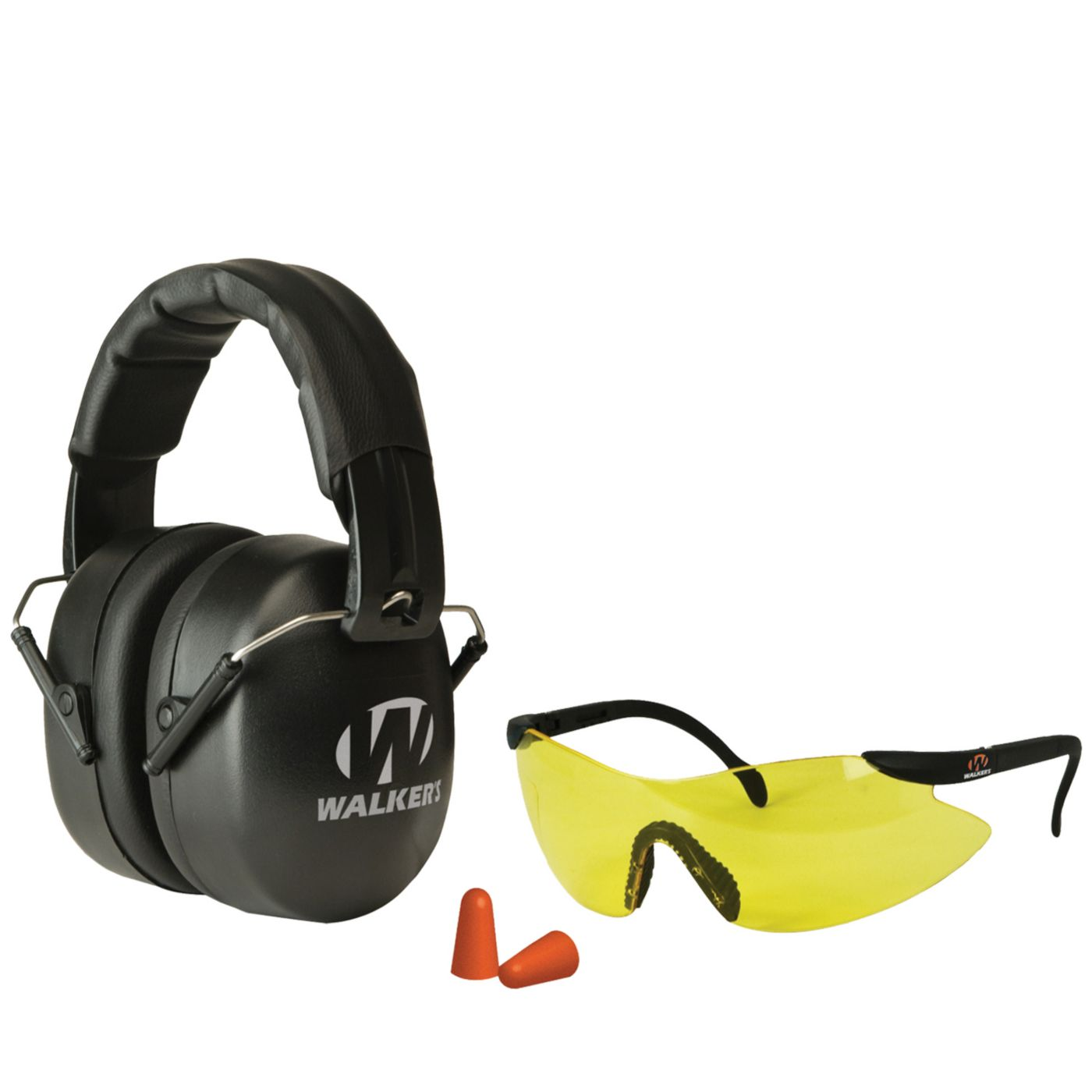 Walker's Game Ear EXT Range Folding Shooting Earmuffs and Glasses Combo