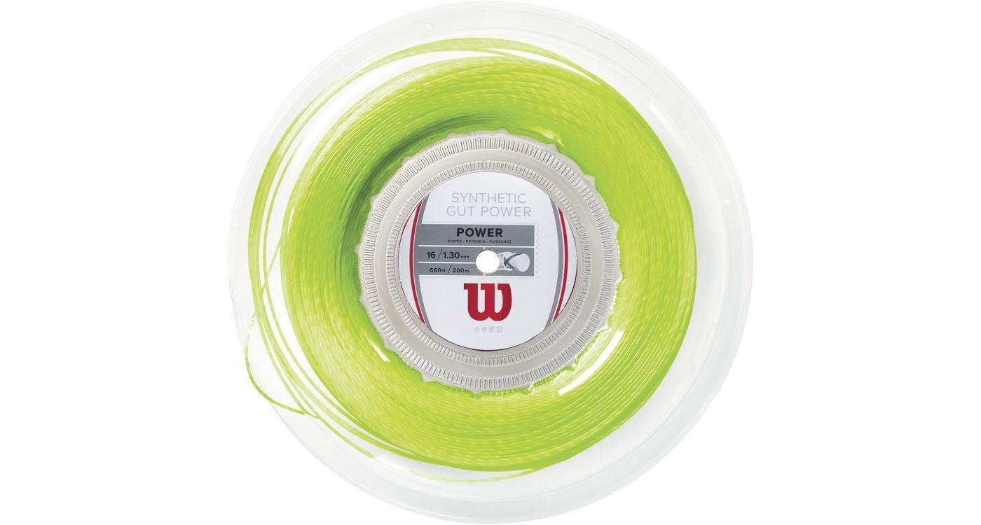 Wilson Synthetic Gut Power 16 Tennis String – 200M Reel