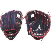 "Wilson 10"" A200 Atlanta Braves T-Ball Glove"