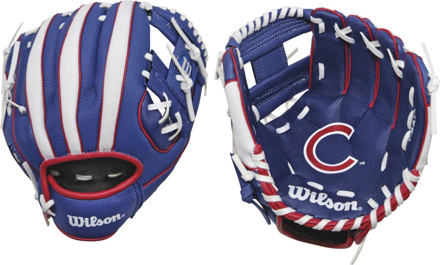 """Wilson 10"""" A200 Chicago Cubs T-Ball Glove"""