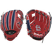 "Wilson 10"" A200 St. Louis Cardinals T-Ball Glove"