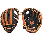 "Wilson 10"" A200 San Francisco Giants T-Ball Glove"