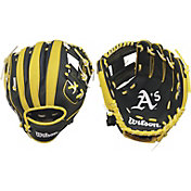 "Wilson 10"" A200 Oakland Athletics T-Ball Glove"