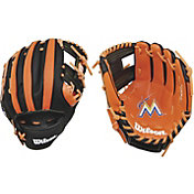 "Wilson 10"" A200 Miami Marlins T-Ball Glove"