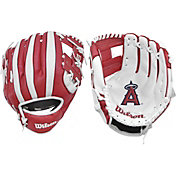 "Wilson 10"" A200 Los Angeles Angels T-Ball Glove"