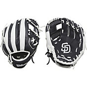 "Wilson 10"" A200 San Diego Padres T-Ball Glove"