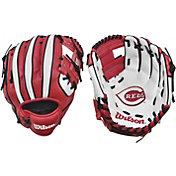 """Wilson 10"""" A200 Cincinnati Reds T-Ball Glove"""