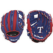 "Wilson 10"" A200 Texas Rangers T-Ball Glove"