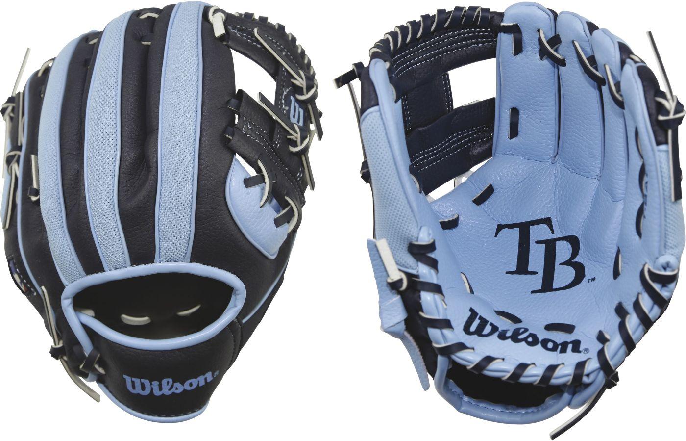 "Wilson 10"" A200 Tampa Bay Rays T-Ball Glove"