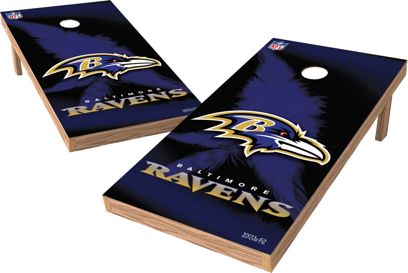 Wild Sports Baltimore Ravens XL Tailgate Bean Bag Toss Shields