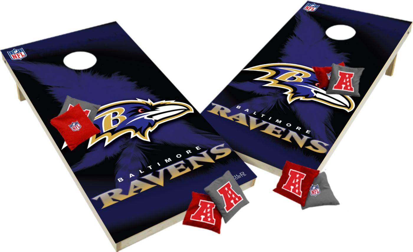 Wild Sports 2' x 4'  Baltimore Ravens Tailgate Bean Bag Toss Shields