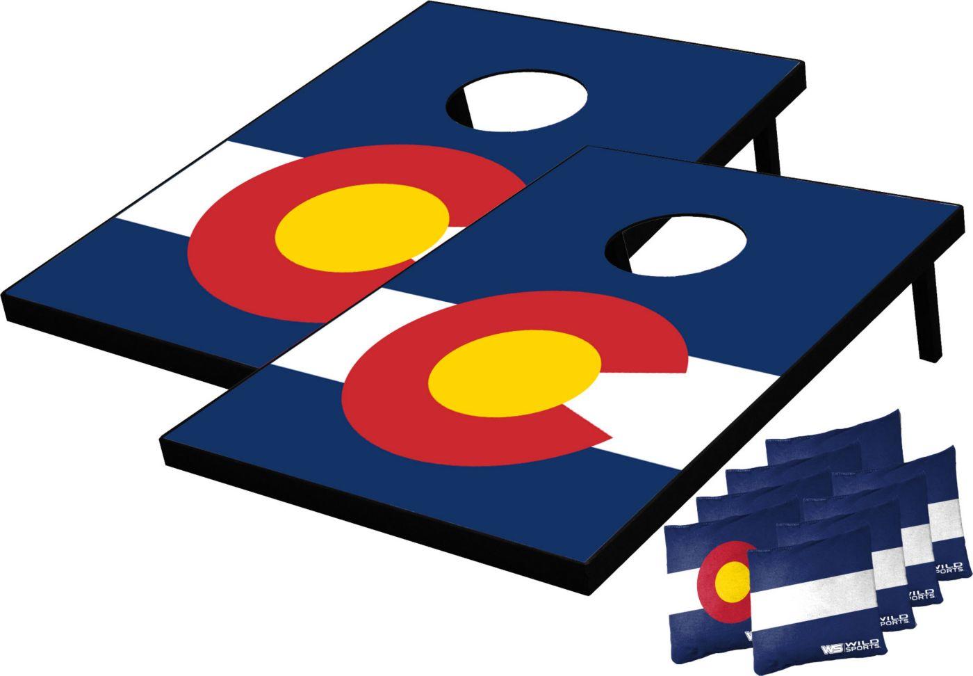 Wild Sports 2' x 3' Colorado State Flag Tailgate Toss Cornhole Set