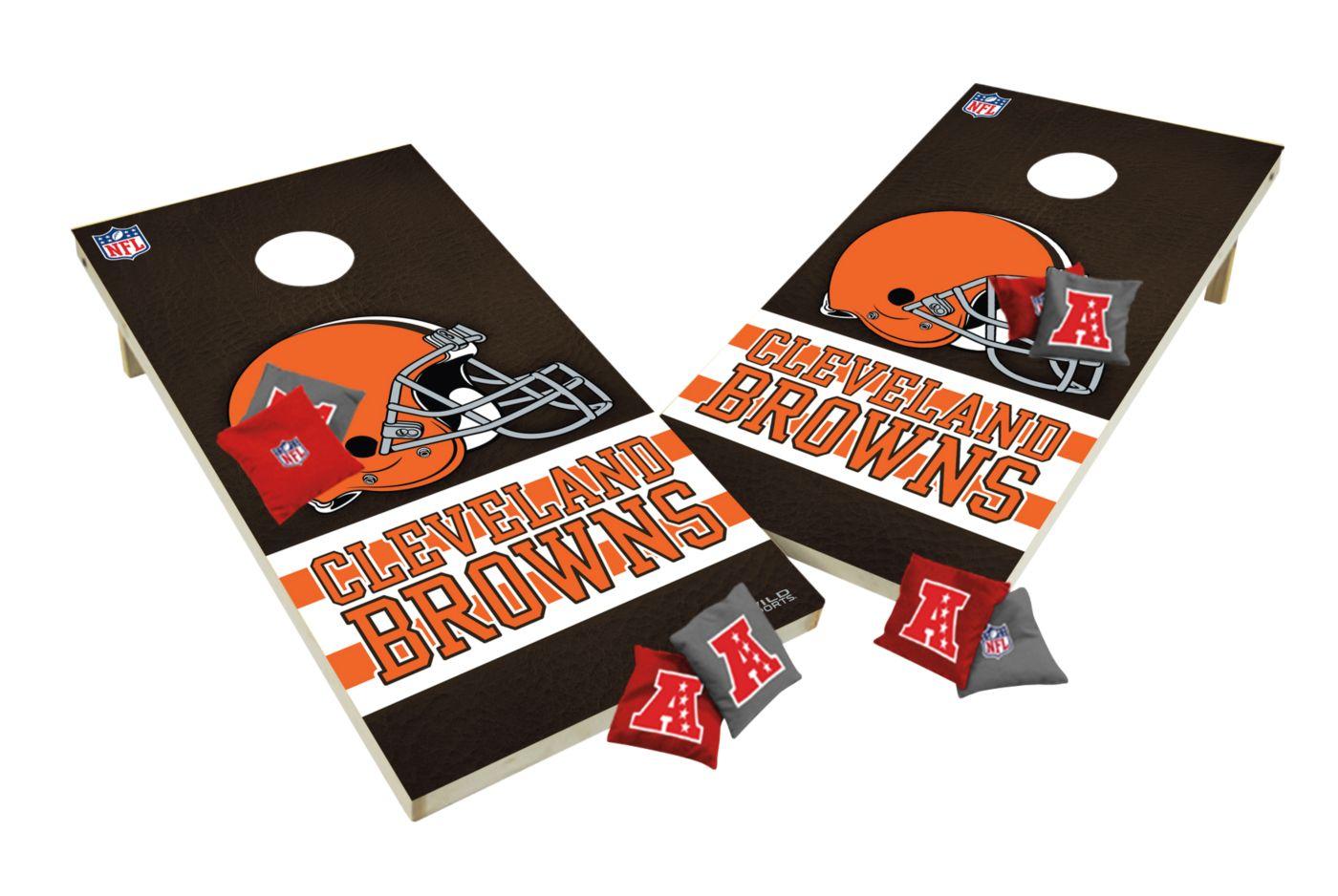 Wild Sports 2' x 4' Cleveland Browns XL Tailgate Bean Bag Toss Shields