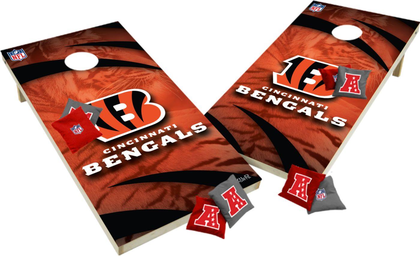Wild Sports 2' x 4'  Cincinnati Bengals Tailgate Bean Bag Toss Shields