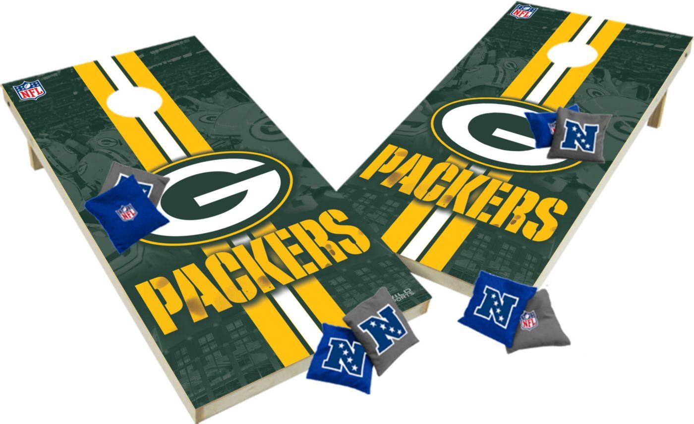 Wild Sports 2' x 4'  Green Bay Packers Tailgate Bean Bag Toss Shields